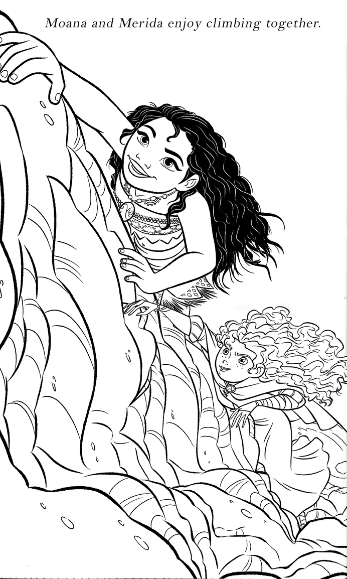 meridaxmoana  coloring page by cancersyndromedits on