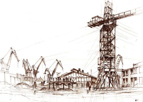 Stara Stocznia Gdanska. Old Gdansk Shipyard.