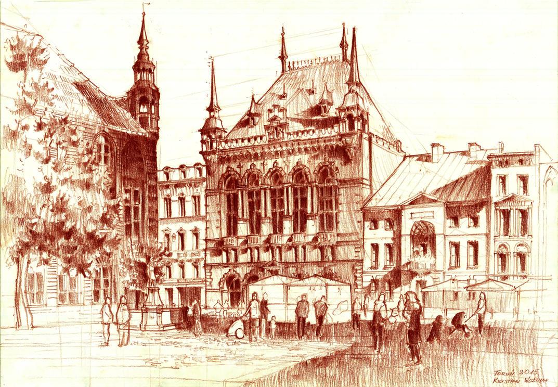 Dwor Artusa w Toruniu. Artus Court in Torun. by Krystian0Wozniak