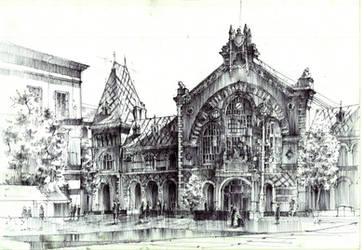 Budapest Market Hall/ Hala Targowa w Budapeszcie. by KrystianWozniak