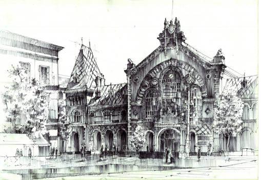 Budapest Market Hall/ Hala Targowa w Budapeszcie.