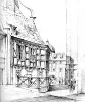 Gdansk House sketch by KrystianWozniak