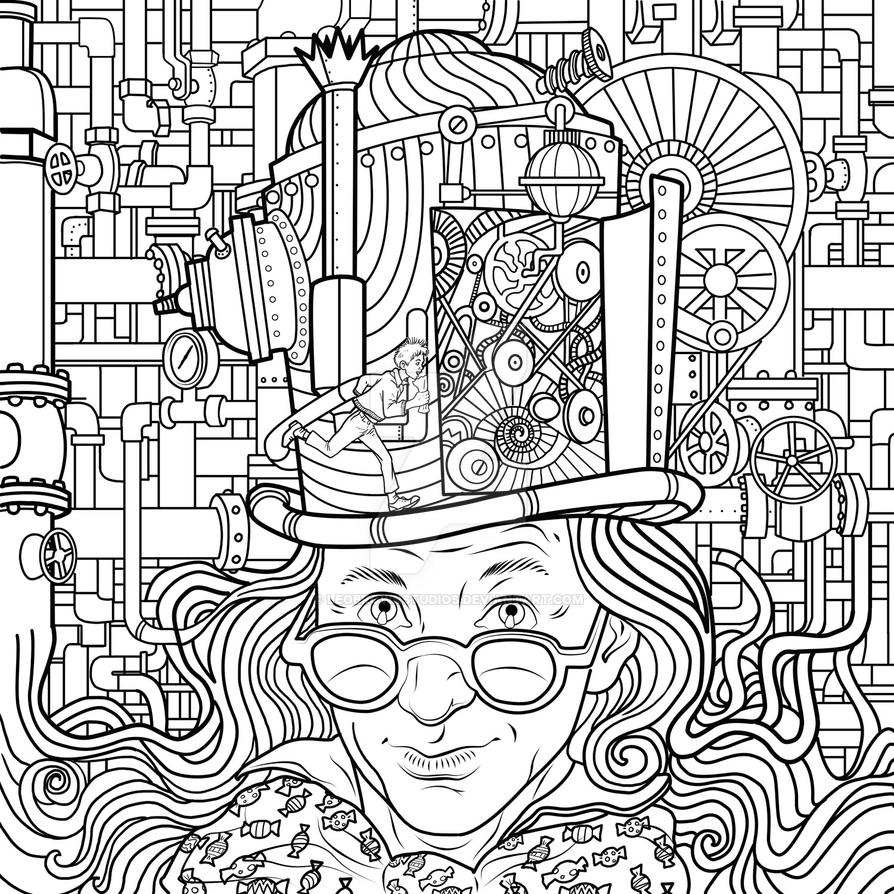 Charlie And The Chocolate Factory By Leobrownstudios On And The Chocolate Factory Coloring Pages