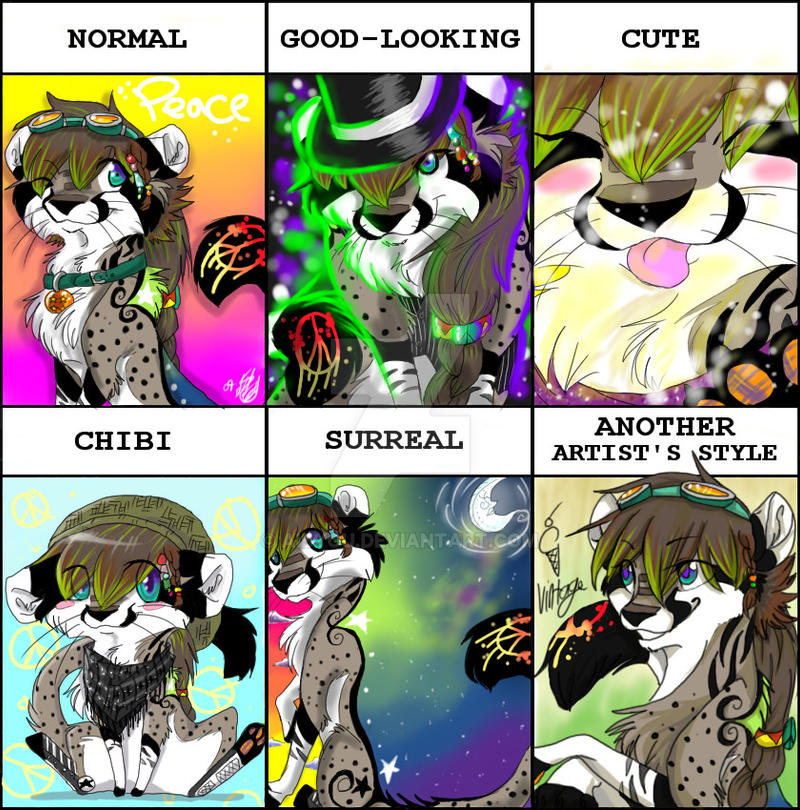 style meme: new fursona by Aibyou