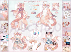 Rose Gold Theme Park Tigress AUCTION (CLOSED)