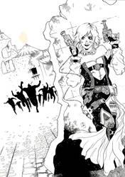 Ilustracion Festival de comic de Ubeda y Baeza B/N