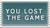 Lost The Game Stamp by kitsune2736