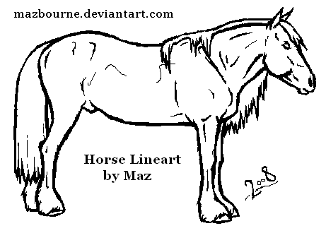 ArtistMaz 12 10 Horse Lineart By