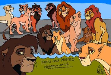 Kovu and kiara's dreamworld... by ArtistMaz