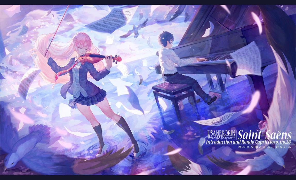 shigatsu wa kimi no uso by 0bakasan d8jkl38 Top 10 anime lãng mạn sẽ khiến bạn yêu ngay cái nhìn đầu tiên