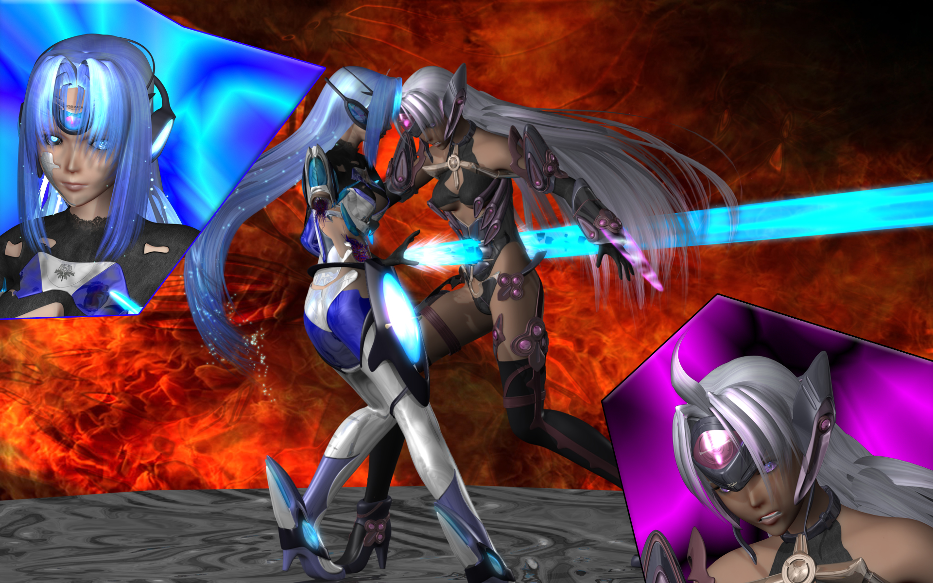 KOS-MOS vs T-Elos 2 by Primantis