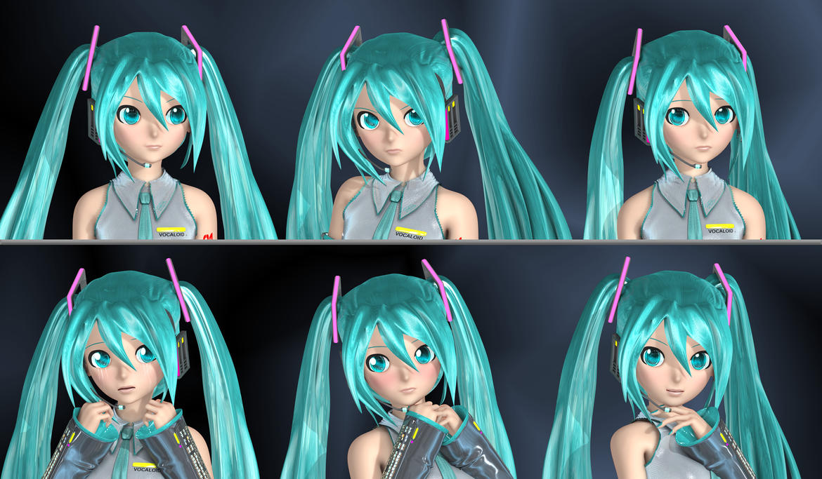 The Faces of Miku by Primantis