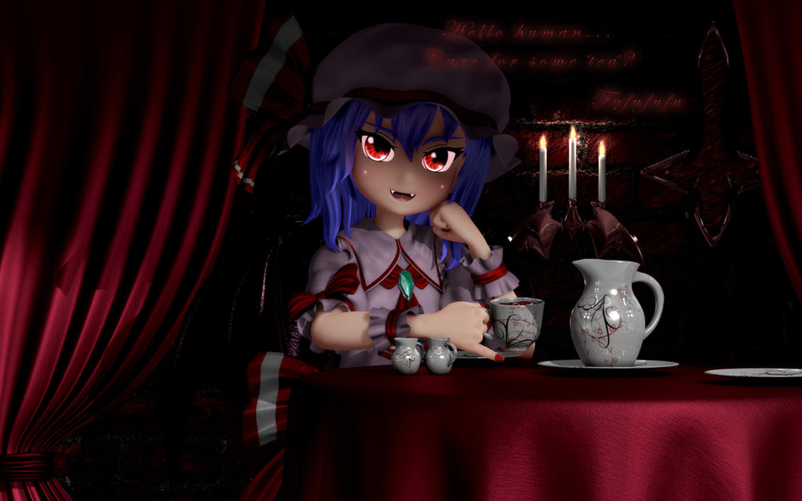 Tea with Remilia by Primantis
