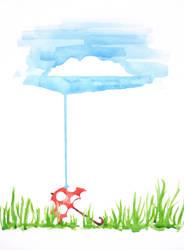 Rainy Day Mushroom Umbrella by AkahAna-chan