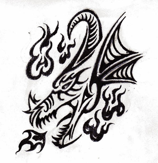 Dragon head tattoo by Saera-Song on DeviantArt