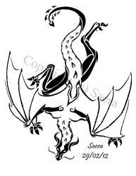 Dragon tattoo shoulder