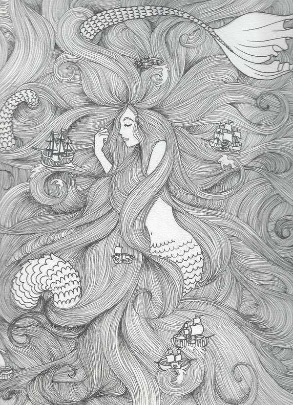 The sea by Gueule-de-Loup