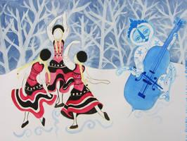 Winter's dance by Gueule-de-Loup