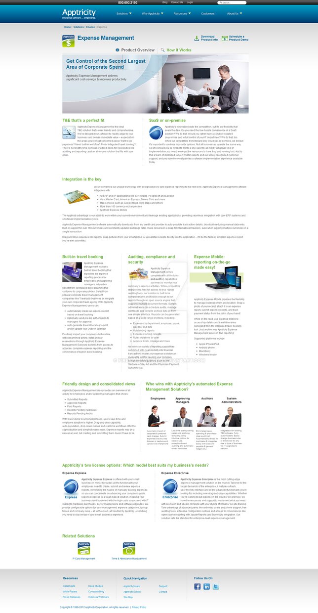 Apptricity Website 2011 -- Subpages by firefall