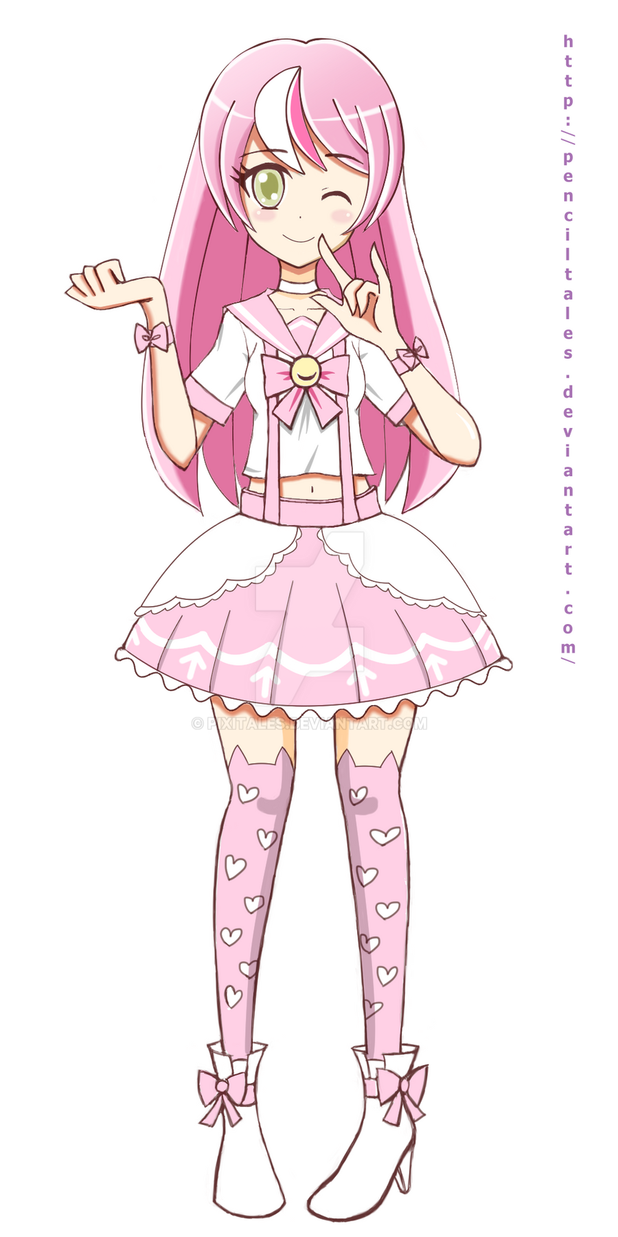 Pink magical girl by pixitales pink magical girl by pixitales