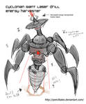 Giant laser drill design concept crab thingy