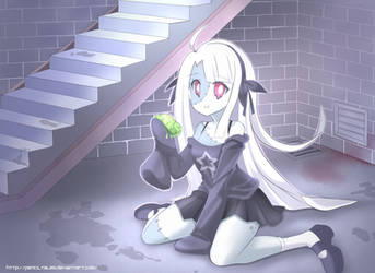 Cute Zombie Girl living in your basement by PixiTales