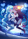 Zombie growing game: Cute water fire zombie girl by PixiTales