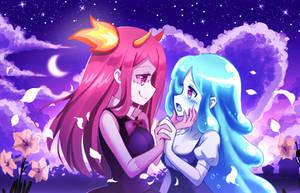 Cute Zombie girls yuri couple: Do you love me? by PixiTales