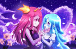 Cute Zombie girls yuri couple: Do you love me?