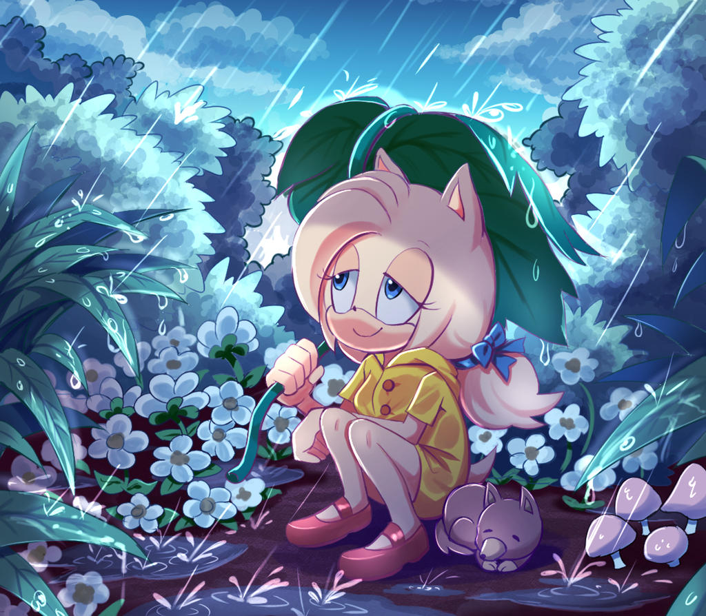 Sonic fanart Contest: Spring time rain by PixiTales