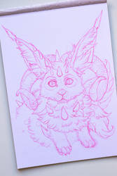 Fluffy Creature Sketch