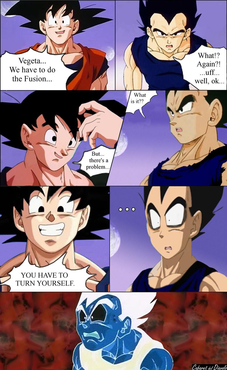 Goku And Vegeta  Back  Fusion By CABARETdelDIAVOLO