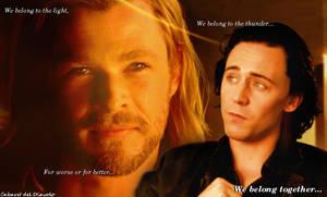 Thor and Loki - We Belong by CABARETdelDIAVOLO