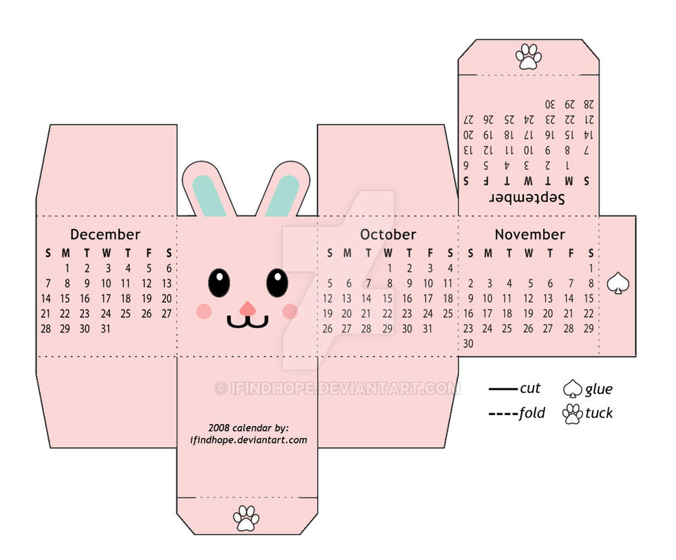 Art Handler Calendar : Box calendar sept dec by ifindhope on deviantart