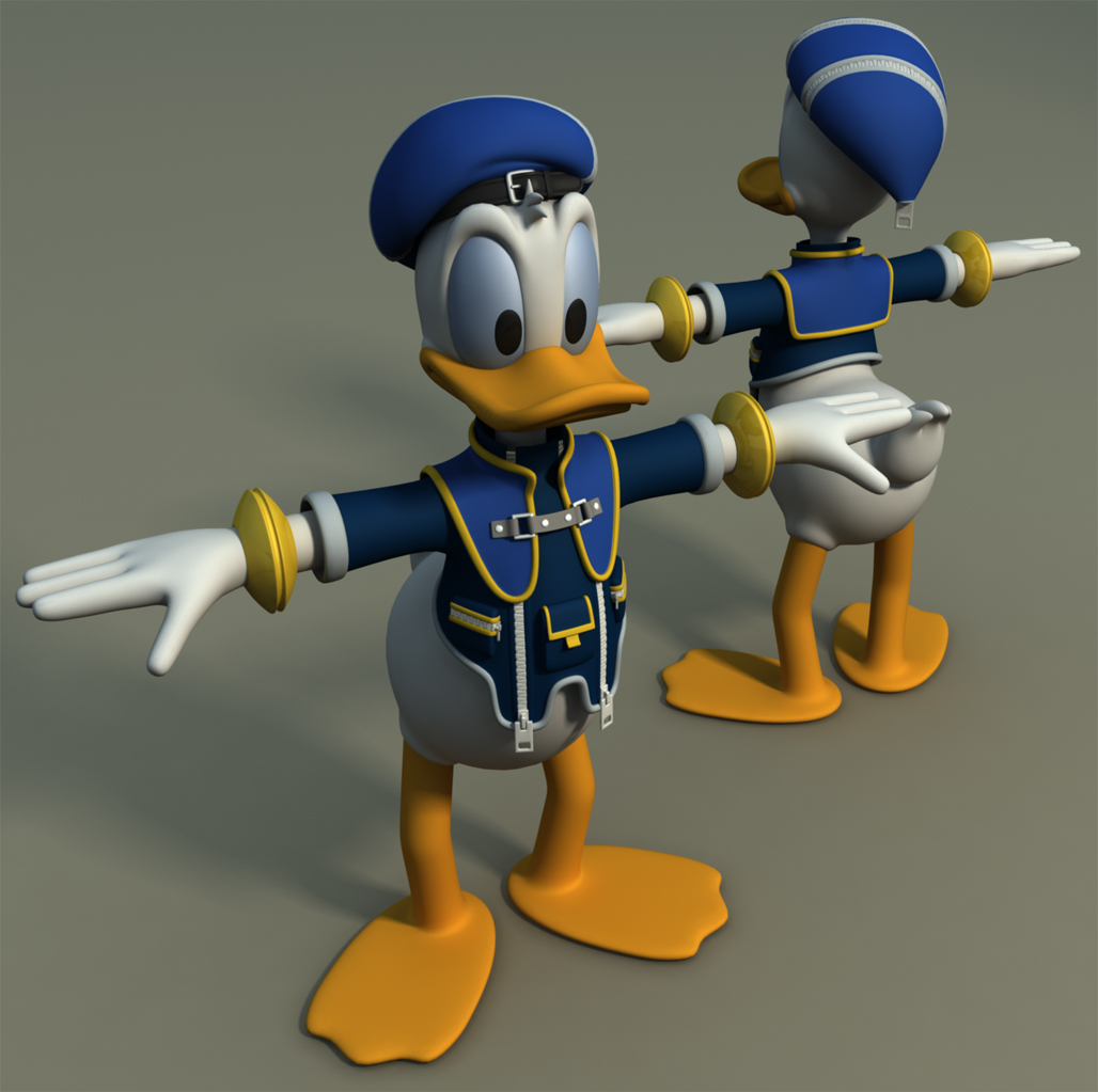 Kingdom hearts wip donald by cc 5052 on deviantart for Donald model