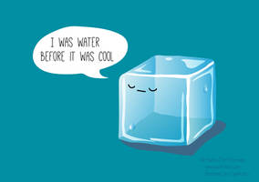 Hipster Ice Cube by hadriabeth