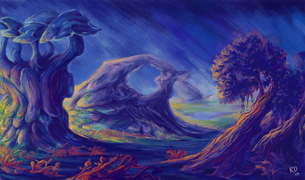Fantasy Landscape 02 by horselover146515