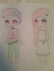Hana Mix: Jellyfish Twins by aiyana231