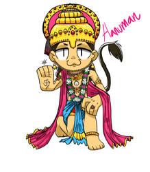 Hanuman by MemoriaSwan