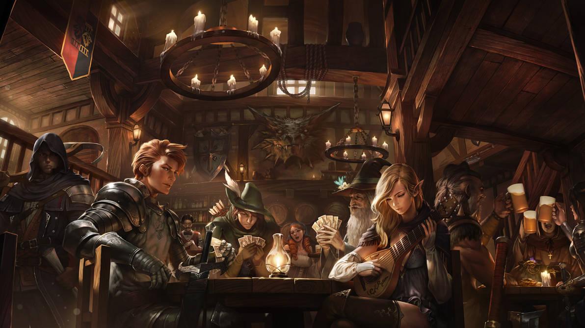 Inn Of Heroes by atomiiii