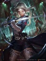 Future Women swordsman by atomiiii