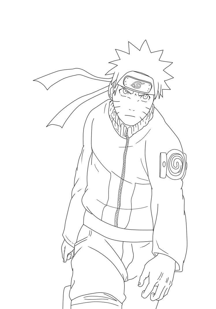 Lineart Naruto : Naruto lineart by peanutbutter on deviantart