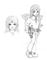 Adrianna aka Adri Sketch by fenyxshalo