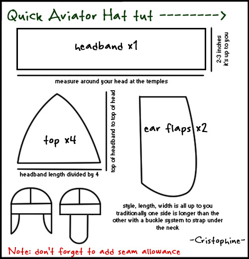 Aviator Cap Tutorial