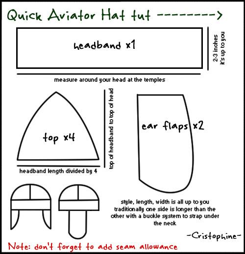 Aviator Cap Tutorial by Cristophine
