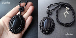 Pure Black pendant by jagienkaa
