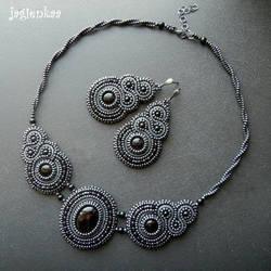 Dancing Onyx in Grey by jagienkaa