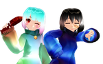 [MMD Undertale] Cool Frisk and Sugar Chara 3