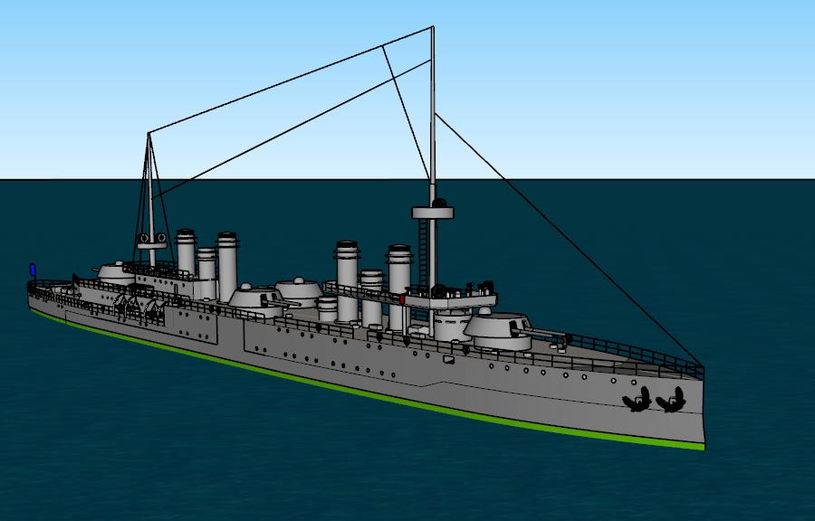 Thetis-class turbine cruiser by Dilandu