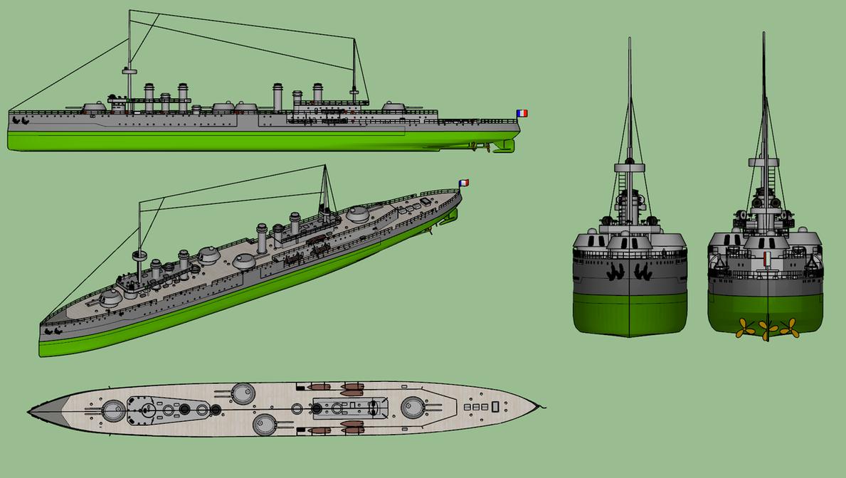 Thetis-class cruiser scheme by Dilandu